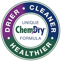 drier, cleaner, healthier, chem-dry badge