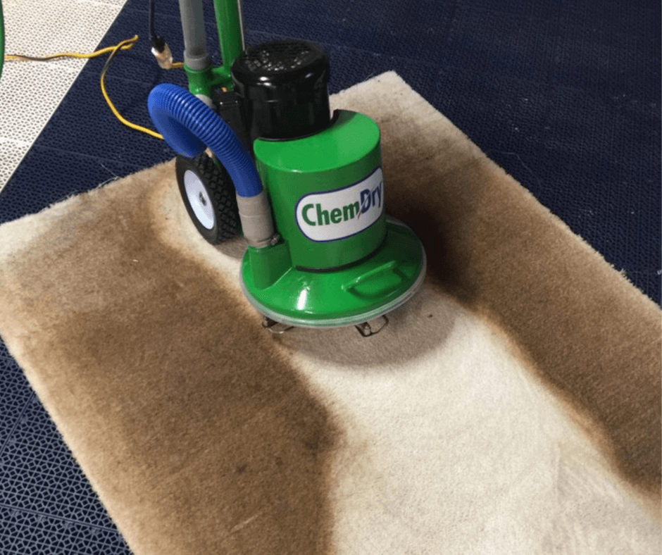 chem-dry equipment performing carpet cleaning in van buren, ar