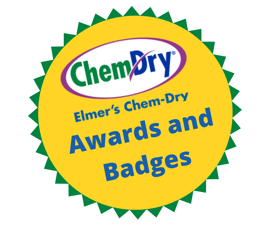 Elmer's Chem-Dry Awards and Badges graphic
