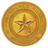 Chem-Dry President's award badge