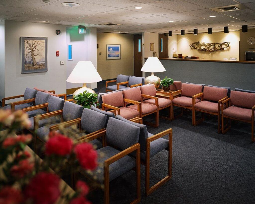 waiting room after a commercial carpet cleaning in fort smith
