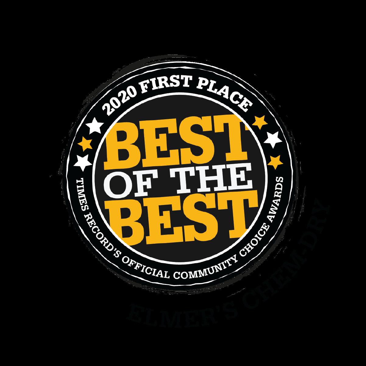 Elmer's Chem-Dry 2020 Best of the Best Award